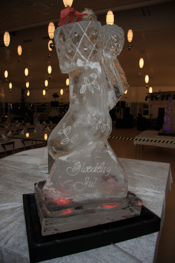 Merry Christmas Stocking Ice Sculpture
