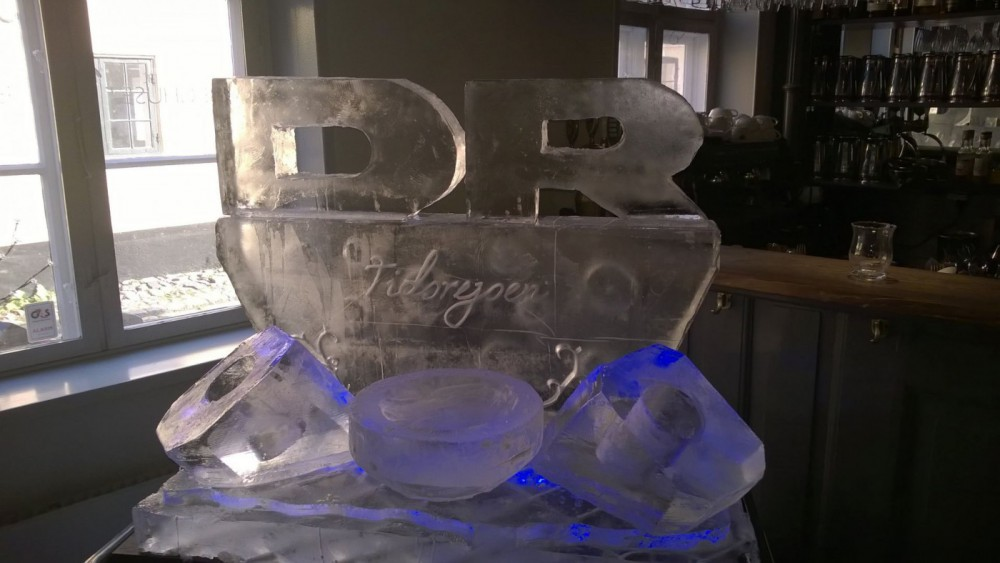 Ice sculpture/bar for DR Tidsrejsen